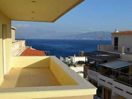 3-SZ-Meerblick-Wohnung über Agios Nikolaos, nahe Strand und Stadtzentrum