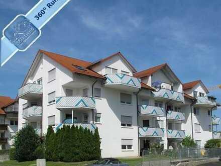 Kapitalanlage: Gut vermietete 2-Zimmer-Dachgeschosswohnung mit TG-Stellplatz in Dillingen a.d. Donau