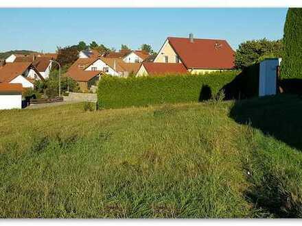 Großzügiger Bauplatz am Ortsrand von Gschwend, 1000m², unverbaubarer Ausblick, teilerschlossen,