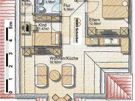 Drei-Zimmer-Dachgeschoßwohnung mit herrlichem Ausblick - zetrale Lage!