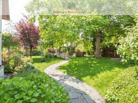 Idylle in Obermenzing. Doppelhaushälfte mit großem Garten.