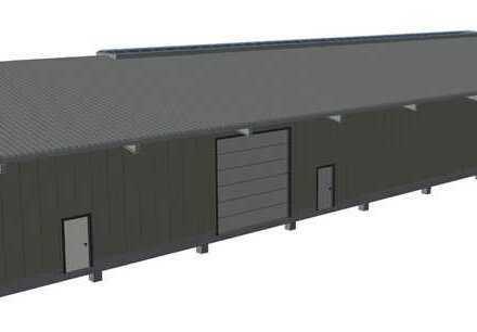 INDUSTRIEHALLE / 500qm / NEU / 8 Tonnen Kranbahn / 5,8 Meter Kran-Hakenhöhe / 40cm Bodenplatte / NEU