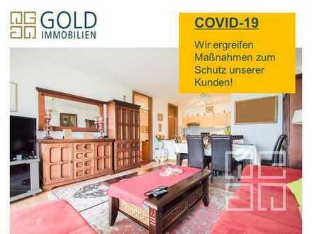 GOLD IMMOBILIEN: Helle 3-Zimmer Wohnung mit Balkon & Tiefgaragen-Stellplatz