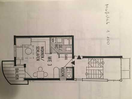 Freundliche 1-Zimmer-Wohnung mit Balkon und EBK in Schönaich