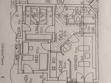 Gepflegte Erdgeschosswohnung mit drei Zimmern und Balkon in Oppenheim