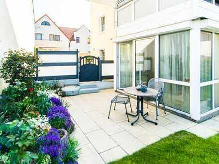 Achtung Gartenliebhaber: 2-Z Wohnung mit sonniger Terrasse, Garten, zzgl. 25 qm Hobbyraum mit Bad