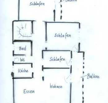 Vollständig renovierte 4-5 Zimmer-Wohnung mit 2 Balkonen und Einbauküche in Giessen
