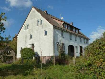 Großes Grundstück mit 6 Garagen und einem baufälligem Haus in Holenberg
