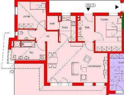 3-Zi. Penthouse-Wohnung, modern und komfortabel mit großer Dachterrasse