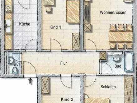 Renovierte große 4-Zimmer-Wohnung mit Balkon und Einbauküche in Heidelberg