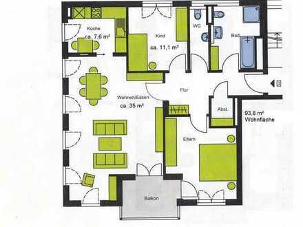 Gepflegte 3,5-Raum-Wohnung mit Balkon und Einbauküche in Bad Saulgau
