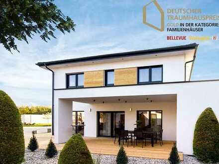 Prämiertes Einfamilienhaus Neubau *SCHLÜSSELFERTIG*, KfW40*, inkl. Grundstück, Keller und Küche