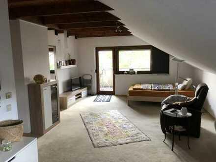 Geräumige, gepflegte 1-Zimmer-DG-Wohnung zur Miete in Bad Boll