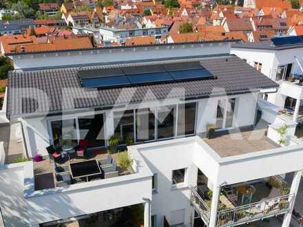 Über den Dächern von Rottenburg - Penthousewohnung mit Panoramaterrasse!
