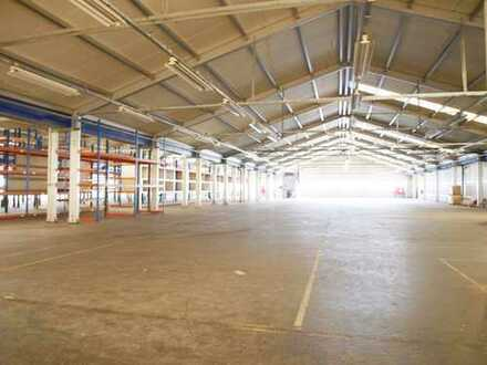 Gewerbeareal m. bester Anbindung! Große ca.3000m² Halle m. ca.190m² Büro,Sanitäranl.,Stellpl. uvm.
