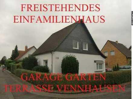 FREISTEHENDES 1-FAM.-HAUS RUHIG+EXKLUSIV LAMINAT+PARKETT EINBAUKÜ: GARTEN/TERRASSE GARAGE VENNHAUSEN