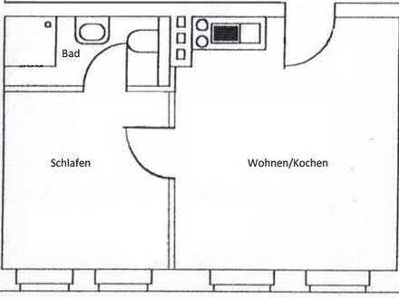 Zweizimmerappartement mit Küche und Waschmaschine