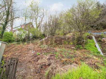 Grüne Wohnlage mit Aussicht: Baugrundstück in Hanglage in Wuppertal Langerfeld-Beyenburg