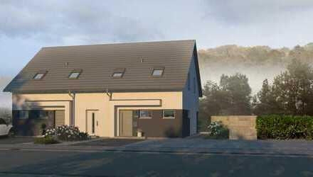 Zweifamilienhaus/ Doppelhaus als Effizienzhaus 55 und als Ausbauhaus