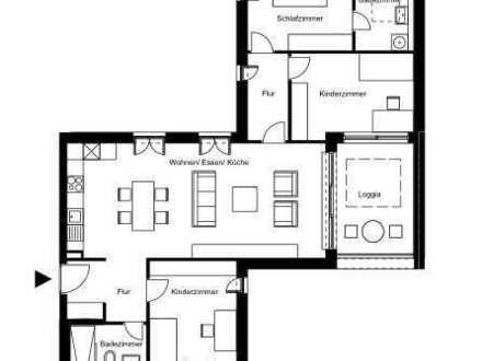 Stilvolle, neuwertige 4-Zimmer-Wohnung mit Loggia und Einbauküche in Karlsruhe Knielingen 2.0