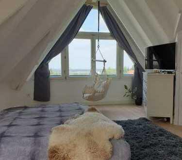Luxus Maisonette-Wohnung mit Balkon und Blick über die Stadt im Dortmunder Süden