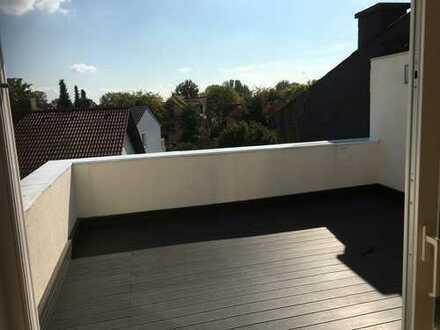 Traumhaft schöne 3 ZKB in Maintal Dörnigheim mit Dachterrasse mit einem Penthouse über den Dächern..