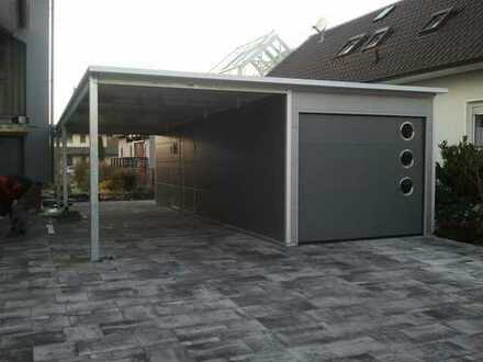 ISO Garage mit Pultdach und Carport