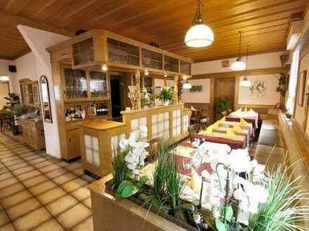 Gut laufende Gaststätte & darüberliegende Wohnung