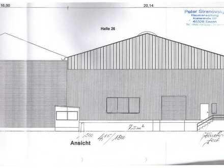 Neubau Lagerhalle 20 x 80 m mit Hydraulische Rampe