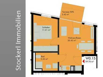 2-ZKB-Terrassenwohnung mit Gartenanteil/Raumhöhe ca. 3m - UHAUS 4/6 - Junges Wohnen Nähe Universität