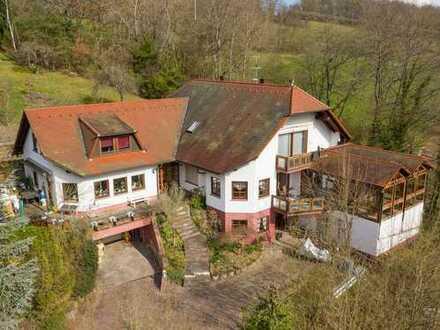 Hafenlohr: Unternehmervilla im Grünen - virtuelle Besichtigung auf Anfrage verfügbar!