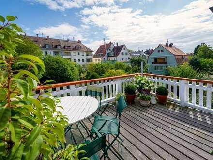 Traumhafte ETW für Singles oder Paare mit großem Balkon/Terrasse in Rüppurr!