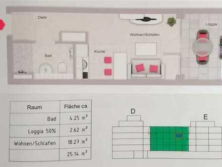 Neu im Sedan Carré: stilvolles 1-Zimmer-MikroAppartment komplett ausgestattet mit EBK und Balkon