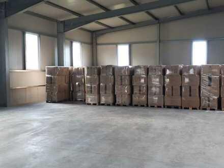 Einlagerung von Waren in trockener Lagerhalle