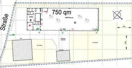 Gewerbehalle mit Wohnhaus mit 3484 m² Grundstück in Werl