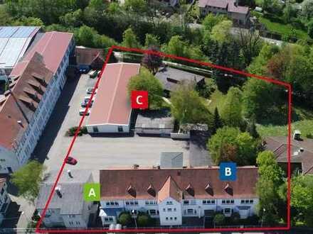 Gewerbe-Areal mit 1210 m² für Lager + Ausstellung + Büro