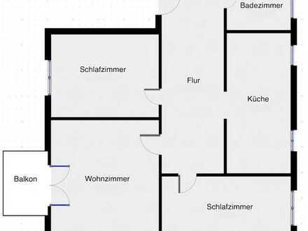 Stilvolle, lichtdurchflutete 3-Zimmerwohnung mit Balkon in Singener Stadtkern