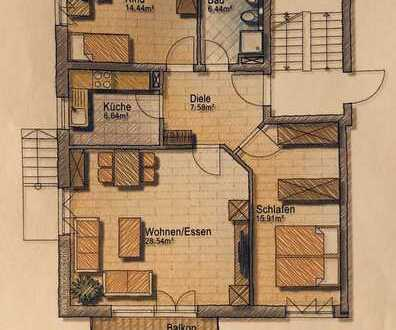 907 €, 84 m², 3 Zimmer