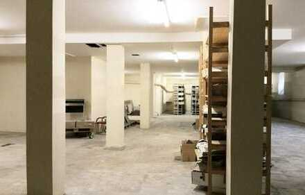 Großzügiger Lager-/Kellerraum, ca. 355 m² (schmaler Eingang)