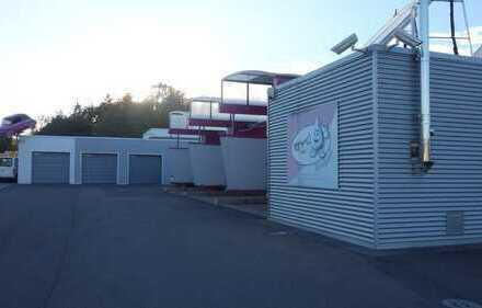 Düppenweiler, SB-Waschpark m. 3 Boxen, 1400 m² Grdst., 6 Gar., Büro, KFZ-Werkstatthalle m. Inventar