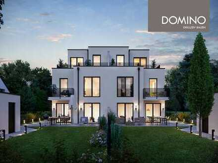 DOMINO Bau: Doppelhaus-Villa für Wohnästheten im noblen Obermenzing -HausA RESERVIERT-
