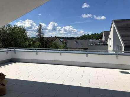 Dach-Loft mit Traumterrasse mitten im Ort