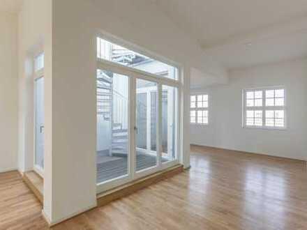 Ab Oktober: Dachterrasse + Atrium | Einbauküche | Vollbad + Duschbad | Balkon | Parkett