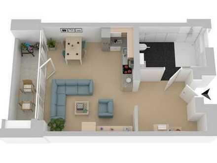 Rollstuhlgerechte 1-Zimmer Wohnung mit Südloggia