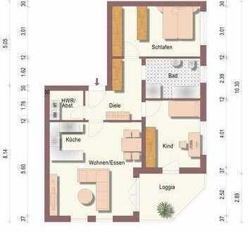 Neubau 2020 - Komfortable Dreiraumwohnung mit Loggia
