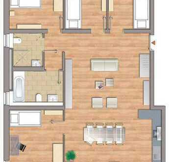 RESERVIERT-Moderne helle 5-Zimmer-Wohnung mit Sonnenbalkon !NEUBAU Erstbezug!