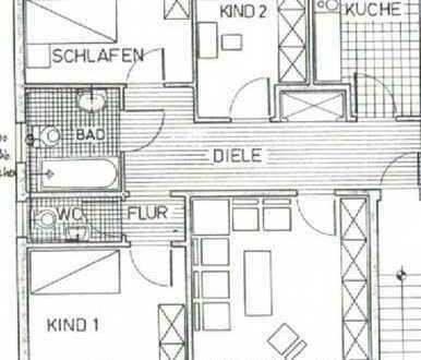 Preiswerte, gepflegte 4-Zimmer-DG-Wohnung mit saniertem Badezimmer und Balkon in Essen-Heisingen