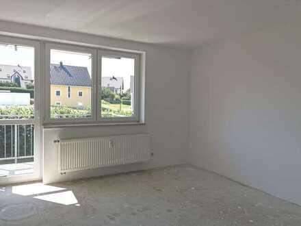 Im Grünen, ruhig gelegene Vier-Raum-Wohnung mit 2 Balkonen
