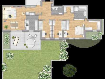 Großzügige 4,5-Zimmer-Familienwohnung mit 2 Terrassen und Gartenanteil!