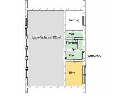 PROVISIONSFREI: Lagerfläche mit kleinem Büro und WC (derzeit Second-Hand-Laden)
